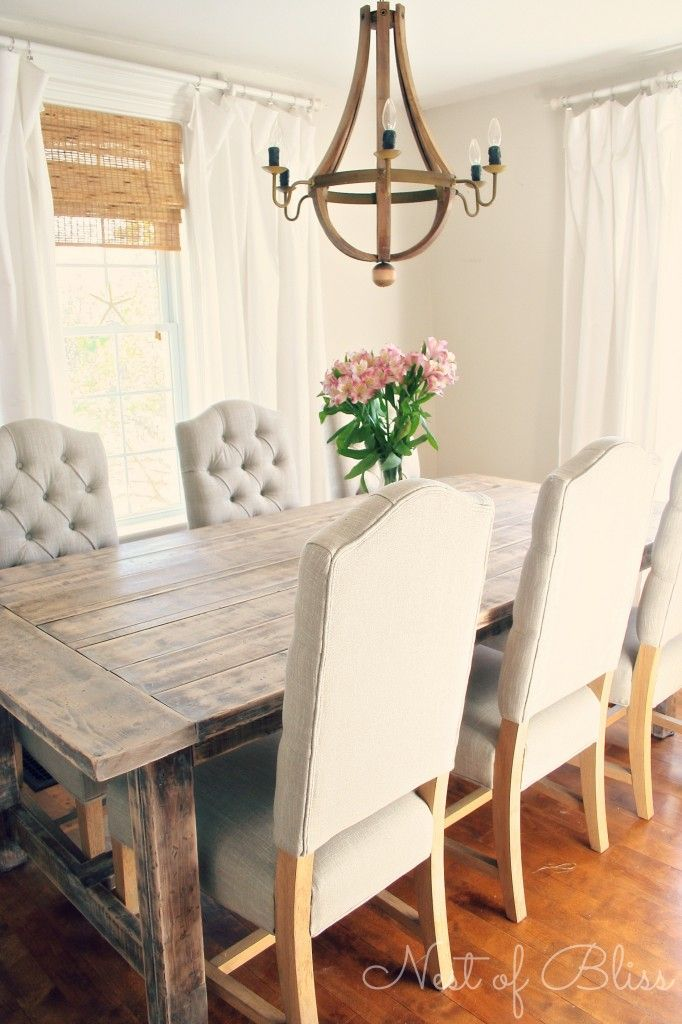 White Rustic Dining Room