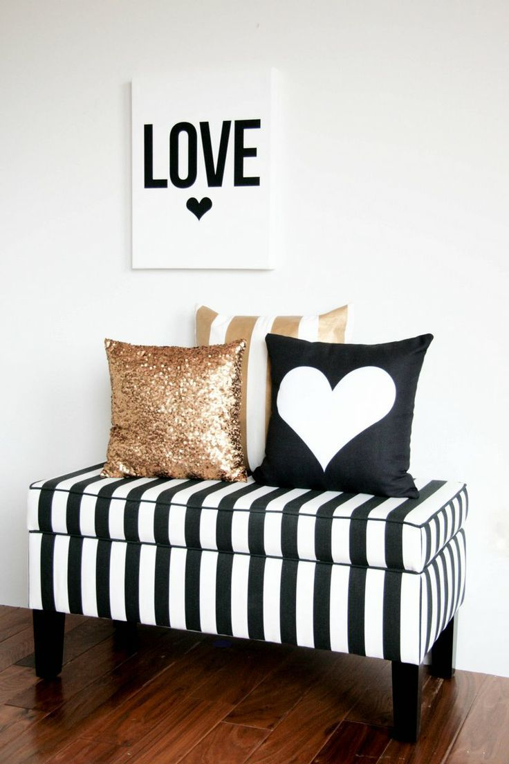 Black White And Gold Interior Design Color Inspiration