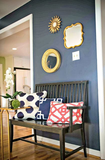 Blue And Gold Color Scheme Interior