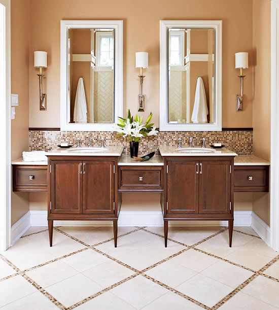 Certain Peach By Sherwin Williams Is A Great Bathroom Paint Color