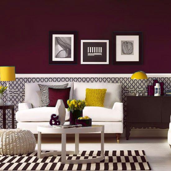 Chameleon Living Room Burgundy