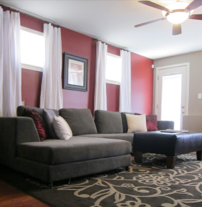 Chesnut Red And Grey Living Room