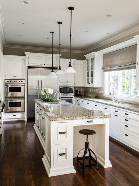 ethereal mood brown gray kitchen paint color - Sherwin Williams Kitchen Cabinet Paint