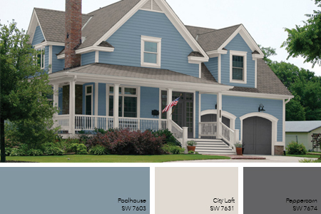 Light Blue Exterior Paint Color