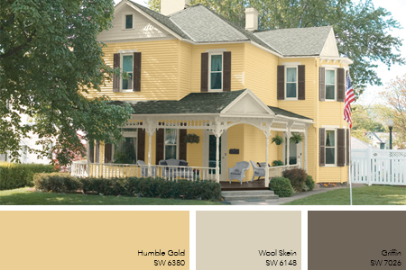 Pale Gold Exterior Paint Idea