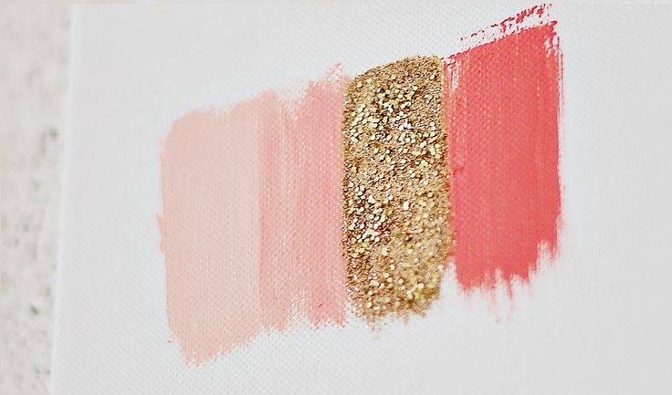 Pink And Gold Paint Color Palette For The Home