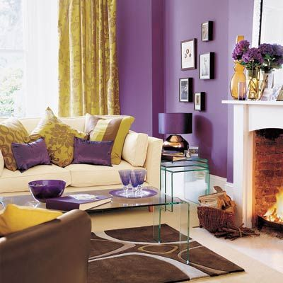 Purple And Gold Living Room Love This Elegant Sophisticated Color Palette