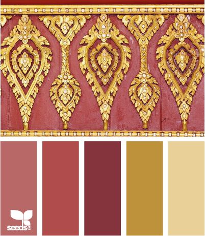 Red And Gold Color Palette Inspired By Asian Design