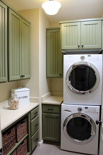 Rockwood Jade Laundry Room Cabinets Green Paint Color