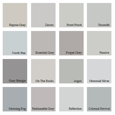 Grey Living Room Ideas: shades of grey interior paint