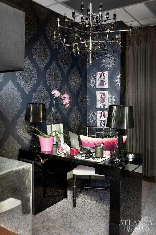 Vogue Metallic Black Home Office