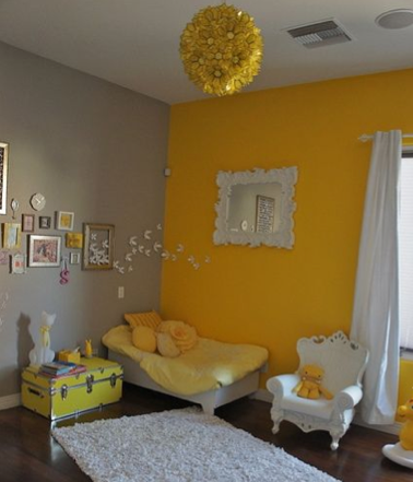 Kids Bedroom Yellow summery yellow room ideas