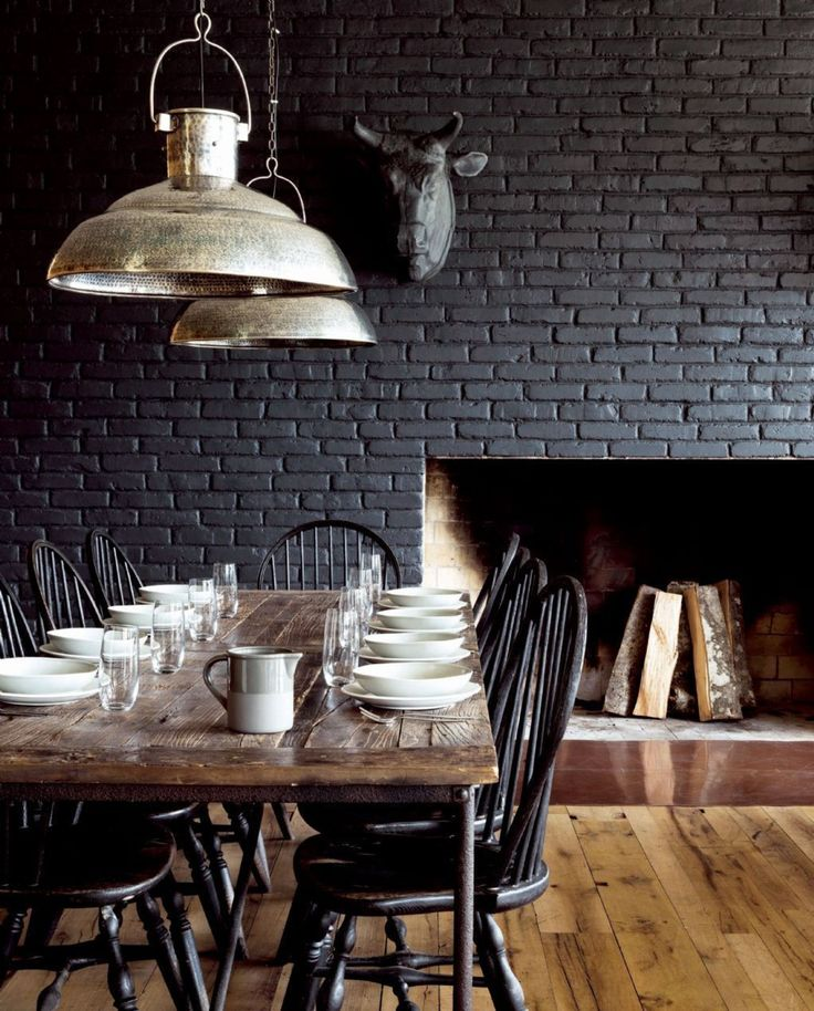 Ideas For Painting Interior Brick Walls Part - 15: Painting Brick Black