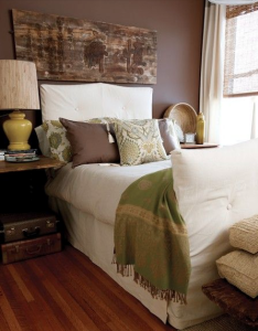 Beau Brown And Green Bedroom