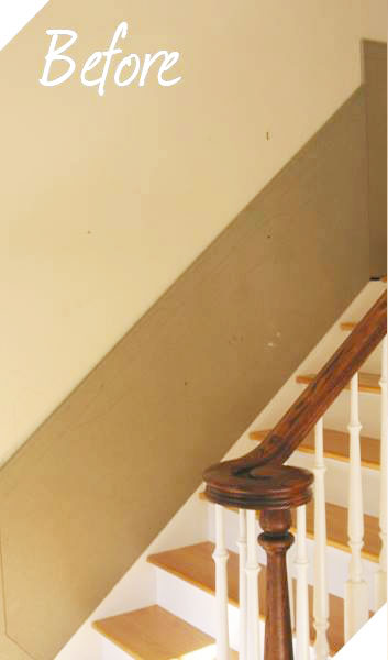 Stairway Molding before image 1
